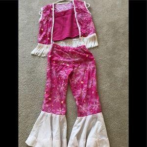 Adorable handmade hippie costume